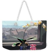 Phalaenopsis Orchid In Sunny Window Weekender Tote Bag