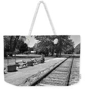 Phelps Ny Train Station In Black And White Weekender Tote Bag