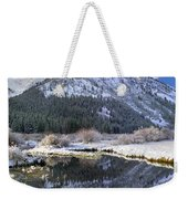 Phi Kappa Mountain Reflected In River Weekender Tote Bag