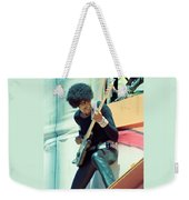 Phil Lynott Of Thin Lizzy - Black Rose Tour Day On The Green 7-4-79  Weekender Tote Bag