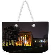 Philadelphia Art Museum  At Night From The Rear Weekender Tote Bag by Bill Cannon