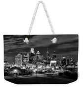 Philadelphia Black And White Cityscape Weekender Tote Bag