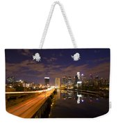 Philadelphia Cityscape From South Street At Night Weekender Tote Bag
