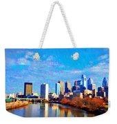 Philadelphia Cityscape Rendering Weekender Tote Bag