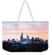 Philadelphia From Belmont Plateau Weekender Tote Bag by Bill Cannon