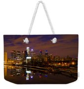 Philadelphia On The Schuylkill At Night Weekender Tote Bag
