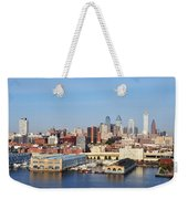 Philadelphia River View Weekender Tote Bag by Bill Cannon