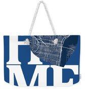 Philadelphia Street Map Home Heart - Philadelphia Pennsylvania R Weekender Tote Bag