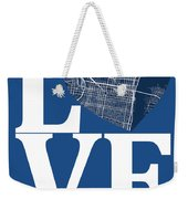 Philadelphia Street Map Love - Philadelphia Pennsylvania Texas R Weekender Tote Bag