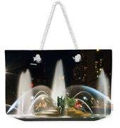 Philadelphia - Swann Fountain - Night Weekender Tote Bag by Bill Cannon
