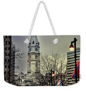 Philadelphia's Iconic City Hall Weekender Tote Bag by Bill Cannon