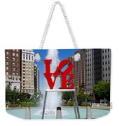 Philadelphia's Love Park Weekender Tote Bag