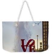 Philadelphia's Love Story Weekender Tote Bag