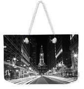 Philadephia City Hall -- Black And White Weekender Tote Bag