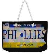 Phillies License Plate Map Weekender Tote Bag