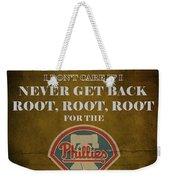 Phillies Peanuts And Cracker Jack  Weekender Tote Bag by Movie Poster Prints