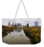 Philly Fall River View Weekender Tote Bag