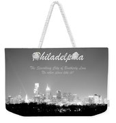 Philly Glow Weekender Tote Bag