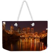 Philly Lights Reflected Weekender Tote Bag