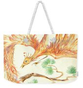 Phoenix In Flight Weekender Tote Bag