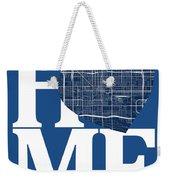 Phoenix Street Map Home Heart - Phoenix Arizona Road Map In A He Weekender Tote Bag