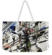 Phone Lines And Laundry Weekender Tote Bag