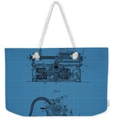 Phonograph Blueprint Patent Drawing Weekender Tote Bag