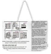 Photo Displays Weekender Tote Bag