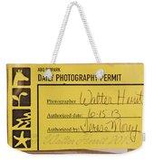 Photo Permit Weekender Tote Bag