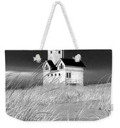 Photograph Of The Lighthouse Big Red In Holland Michigan Weekender Tote Bag
