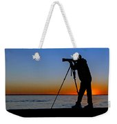 Photographer At Sunset Weekender Tote Bag