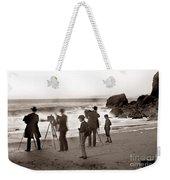 Photographer On The Beach California  Circa 1887 Weekender Tote Bag