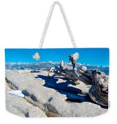 Photographer On Top Of Sentinel Dome In Yosemite Np-ca  Weekender Tote Bag