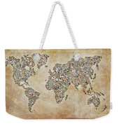 Photographer World Map Weekender Tote Bag