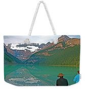 Photographers At Lake Louise In Banff National Park-ab Weekender Tote Bag