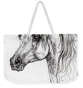 Piaff Polish Arabian Horse Drawing 1 Weekender Tote Bag