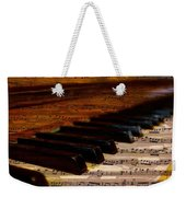 Piano And Music Weekender Tote Bag