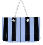 Piano Keys In Cyan Weekender Tote Bag