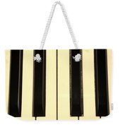 Piano Keys In Sepia Weekender Tote Bag