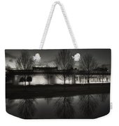 Piano Pavilion Bw Reflections Weekender Tote Bag