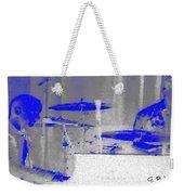 Piano Player In Pastel Blue Weekender Tote Bag