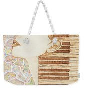 Piano Spirit Original Coffee And Watercolors Series Weekender Tote Bag