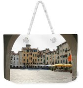 Piazza Del Mercato Lucca Weekender Tote Bag