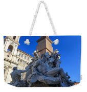 Piazza Navona Fountain Weekender Tote Bag