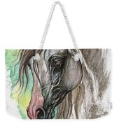Piber Polish Arabian Horse Watercolor Painting Weekender Tote Bag