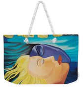 Picasso Inspired Hand Embroidery Weekender Tote Bag