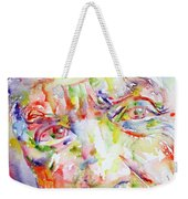 Picasso Pablo Watercolor Portrait.2 Weekender Tote Bag