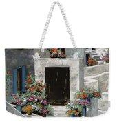 piccole case bianche di Grecia Weekender Tote Bag