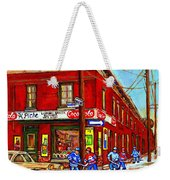 Piche's Grocery Store Bridge Street And Forfar Goosevillage Montreal Memories By Carole Spandau Weekender Tote Bag