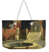 Picking Flowers From The Courtyard Weekender Tote Bag